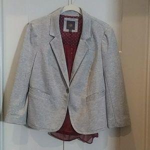 Grey dress jacket w/ maroon cami size XL